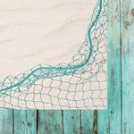 Kaisercraft - Coastal Escape Collection - 12 x 12 Double Sided Paper - Netting