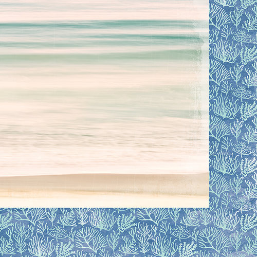 Kaisercraft - Coastal Escape Collection - 12 x 12 Double Sided Paper - Sea Grass