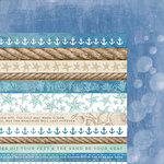 Kaisercraft - Coastal Escape Collection - 12 x 12 Double Sided Paper - Water