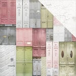 Kaisercraft - Cottage Rose Collection - 12 x 12 Double Sided Paper - Welcome