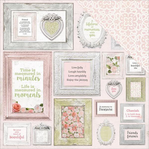 Kaisercraft - Cottage Rose Collection - 12 x 12 Double Sided Paper - Framed