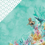 Kaisercraft - Mermaid Tails Collection - 12 x 12 Double Sided Paper - Dolphin