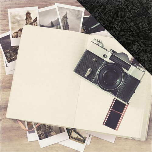Kaisercraft - Just Landed Collection - 12 x 12 Double Sided Paper - Journal