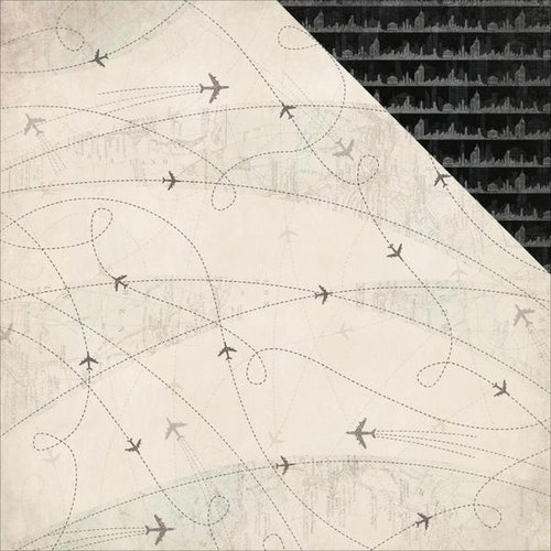 Kaisercraft - Just Landed Collection - 12 x 12 Double Sided Paper - Flight Path