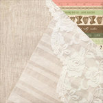 Kaisercraft - Mademoiselle Collection - 12 x 12 Double Sided Paper - Threadwork