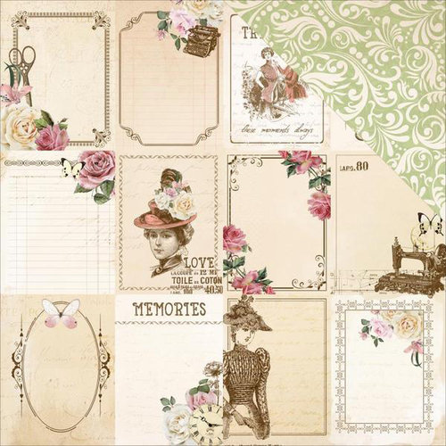 Kaisercraft - Mademoiselle Collection - 12 x 12 Double Sided Paper - Lady Like