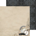 Kaisercraft - Barber Shoppe Collection - 12 x 12 Double Sided Paper - Razor