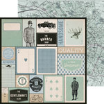Kaisercraft - Barber Shoppe Collection - 12 x 12 Double Sided Paper - Shave