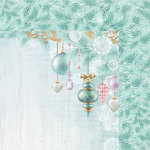 Kaisercraft - Christmas Wishes Collection - 12 x 12 Double Sided Paper - Bauble Garland
