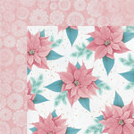 Kaisercraft - Christmas Wishes Collection - 12 x 12 Double Sided Paper - Pink Poinsettia