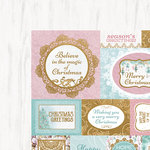 Kaisercraft - Christmas Wishes Collection - 12 x 12 Double Sided Paper - Seasons Greetings