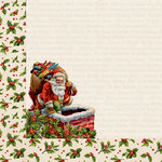 Kaisercraft - Silent Night Collection - Christmas - 12 x 12 Double Sided Paper - Down the Chimney