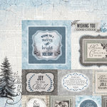 Kaisercraft - Frosted Collection - Christmas - 12 x 12 Double Sided Paper - Icy