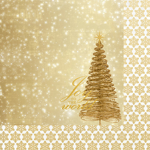 Kaisercraft - Glisten Collection - Christmas - 12 x 12 Double Sided Paper with Foil Accents - Glimmer