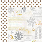 Kaisercraft - Glisten Collection - Christmas - 12 x 12 Double Sided Paper with Glitter Accents - Crystal