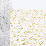 Kaisercraft - Glisten Collection - Christmas - 12 x 12 Double Sided Paper with Foil Accents - Sparkling