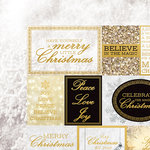 Kaisercraft - Glisten Collection - Christmas - 12 x 12 Double Sided Paper with Foil Accents - Incandescent