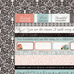 Kaisercraft - Ooh La La Collection - 12 x 12 Double Sided Paper - Au Revoir