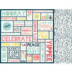 Kaisercraft - Party Time Collection - 12 x 12 Double Sided Paper - Hooray