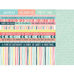 Kaisercraft - Party Time Collection - 12 x 12 Double Sided Paper - Streamers