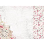 Kaisercraft - P.S. I Love You Collection - 12 x 12 Double Sided Paper - Pen Pal