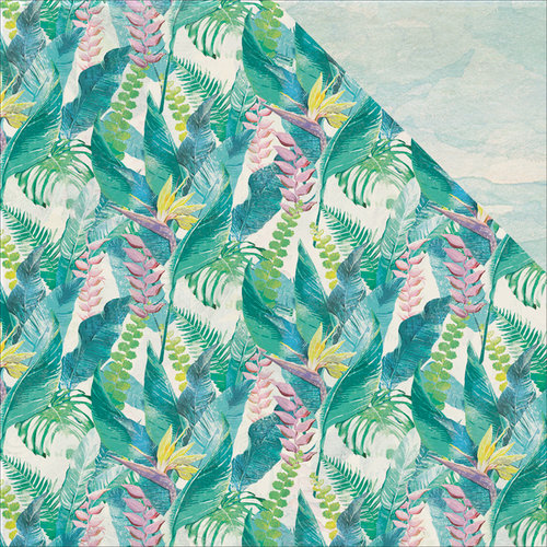 Kaisercraft - Island Escape Collection - 12 x 12 Double Sided Paper - Bird of Paradise