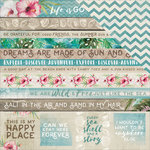 Kaisercraft - Island Escape Collection - 12 x 12 Double Sided Paper - Salty Seas