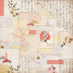 Kaisercraft - Hanami Garden Collection - 12 x 12 Double Sided Paper - Komoberi