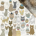 Kaisercraft - Pawfect Collection - 12 x 12 Double Sided Paper - Cats