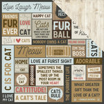 Kaisercraft - Pawfect Collection - 12 x 12 Double Sided Paper - Meow