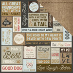 Kaisercraft - Pawfect Collection - 12 x 12 Double Sided Paper - Woof