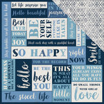 Kaisercraft - Indigo Skies Collection - 12 x 12 Double Sided Paper - Blue Moon
