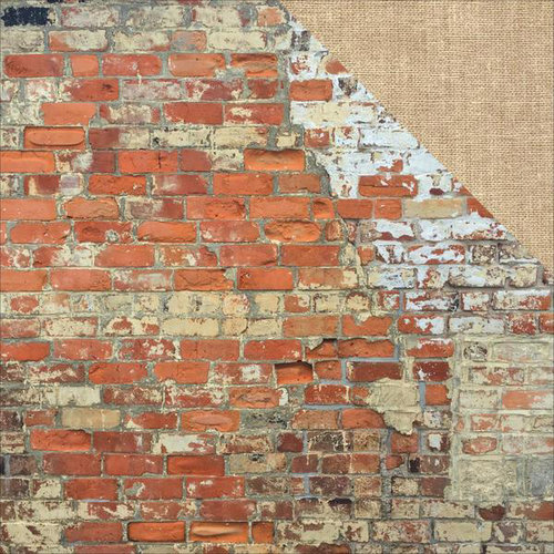 Kaisercraft - Basecoat 4 Collection - 12 x 12 Double Sided Paper - Brickwork