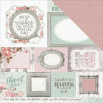 Kaisercraft - Sage and Grace Collection - 12 x 12 Double Sided Paper - Thoughts