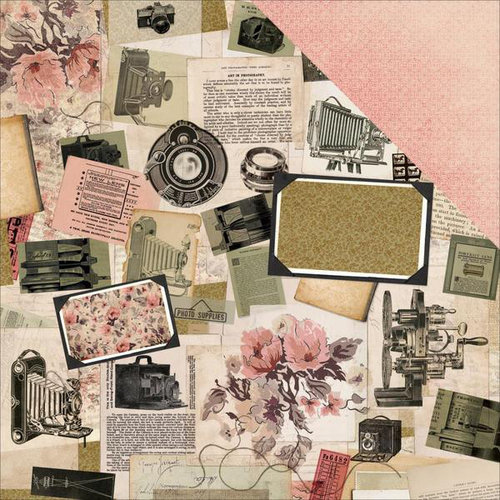 Kaisercraft - Keepsake Collection - 12 x 12 Double Sided Paper - Collage