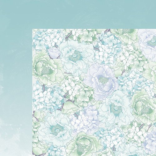 Kaisercraft - Lilac Whisper Collection - 12 x 12 Double Sided Paper - Hydrangea