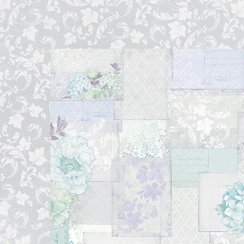 Kaisercraft - Lilac Whisper Collection - 12 x 12 Double Sided Paper - Mauve