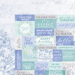 Kaisercraft - Lilac Whisper Collection - 12 x 12 Double Sided Paper - Well Wishes