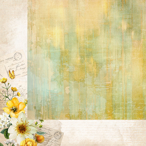 Kaisercraft - Golden Grove Collection - 12 x 12 Double Sided Paper - Soft Moss