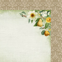 Kaisercraft - Golden Grove Collection - 12 x 12 Double Sided Paper - Sweet Pear