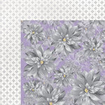 Kaisercraft - Christmas Jewel Collection - 12 x 12 Double Sided Paper with Foil Accents - Silver Poinsettia