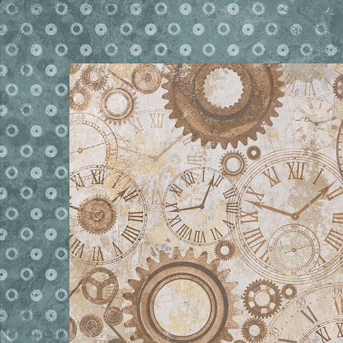 Kaisercraft - Factory 42 Collection - 12 x 12 Double Sided Paper - Gears and Cogs