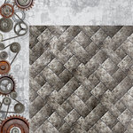 Kaisercraft - Factory 42 Collection - 12 x 12 Double Sided Paper - Ironworks