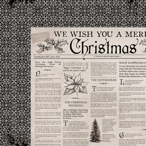 Kaisercraft - Christmas Edition Collection - 12 x 12 Double Sided Paper - Christmas Tale