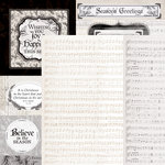 Kaisercraft - Christmas Edition Collection - 12 x 12 Double Sided Paper - Christmas Melody