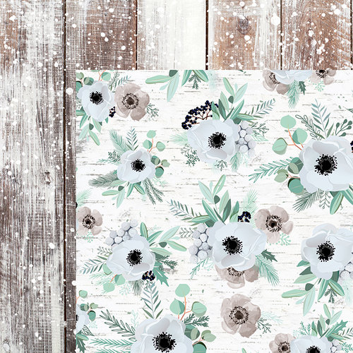 Kaisercraft - Mint Wishes Collection - Christmas - 12 x 12 Double Sided Paper - Frosted