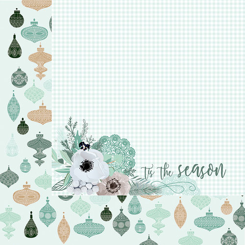 Kaisercraft - Mint Wishes Collection - Christmas - 12 x 12 Double Sided Paper - Flannelette
