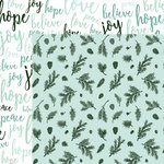 Kaisercraft - Mint Wishes Collection - Christmas - 12 x 12 Double Sided Paper - Spearmint