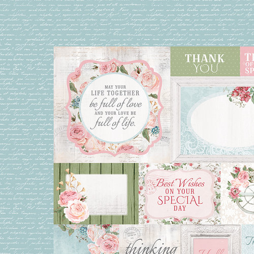 Kaisercraft - Rose Avenue Collection - 12 x 12 Double Sided Paper - Irreplaceable