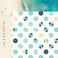 Kaisercraft - Summer Splash Collection - 12 x 12 Double Sided Paper - Beach Umbrellas